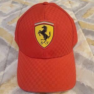 🧢FERRARI LICENSED RED VENTED ADJUSTABLE HAT